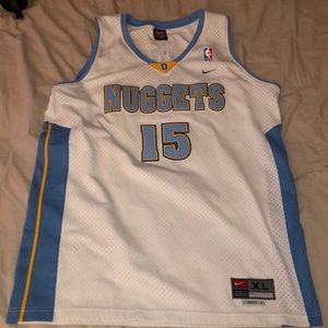 NBA Jersey- Nuggets- Carmelo Anthony 15- XL Tall